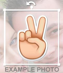 Emoji de la forme de la main de V pour coller dans vos photos comme autocollant