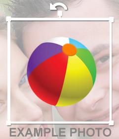 Coloré ballon de plage à coller sur vos photos