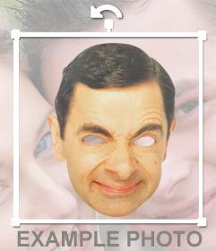 Portez ce masque drôle de M. Bean visage et pour