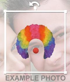 Autocollant dune perruque de clown et le nez pour vos photos
