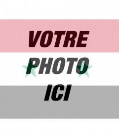 Photomontage du drapeau syrien pour votre photo