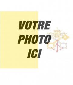 Filtre à mettre le drapeau du Vatican avec votre photo darrière-plan