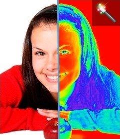 """Photo Filtre effet thermographie, l""""imagerie thermique permet de l""""image que vous téléchargez"""