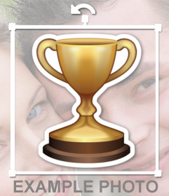 Autocollant dun trophée de récompense, vous pouvez coller sur vos photos