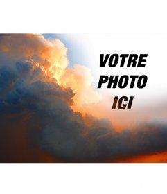 Photomontage spécial avec des nuages 