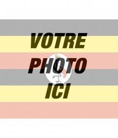 """Collage de photos de votre photo avec le drapeau de l""""Ouganda à faire en ligne"""