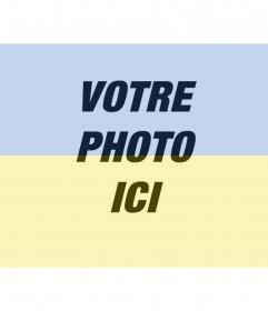 Collage du drapeau ukrainien avec votre photo à faire en ligne. Parfait pour votre avatar