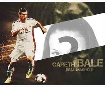 Collage de joueur de football Gareth Bale avec votre image