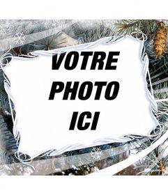 """Cadre photo avec des motifs de Noël et d""""hiver"""