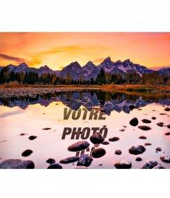 Diffusez votre reflet dans un lac au coucher du soleil