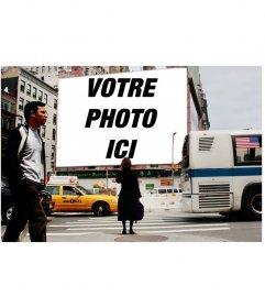 Photomontage de mettre votre photo sur une affiche dans une rue de New York