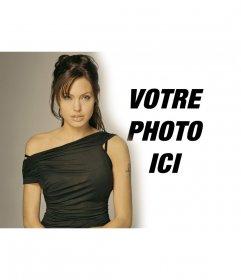 Photomontage avec Angelina Jolie apparaisse à côté de lui