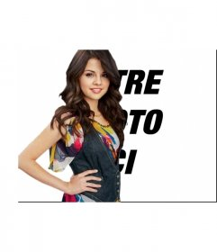Effet de photo pour être avec Selena Gomez télécharger votre photo