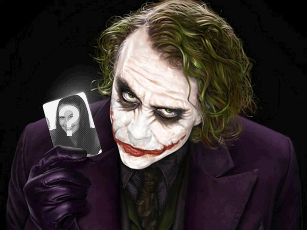 Obtenez un moyen facile et simple de cette finition montage professionnel gratuit, composé de Votre photo détenues par Joker, Batman antagoniste