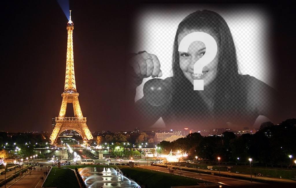 """Mettez votre photo en arrière-plan d""""une carte postale de la Tour Eiffel et Paris en arrière-plan"""