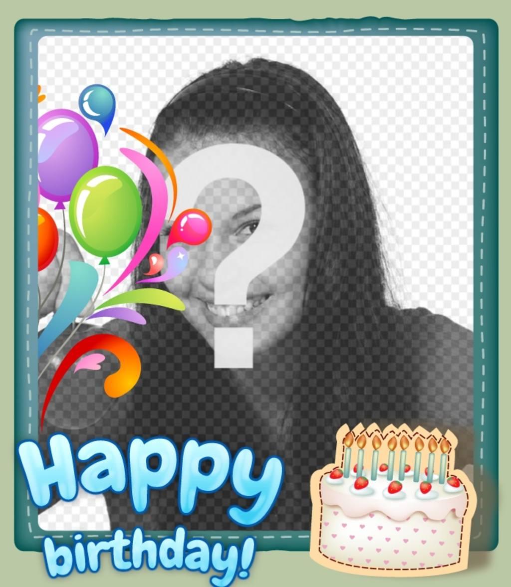 Carte anniversaire avec photo perso gratuit a imprimer
