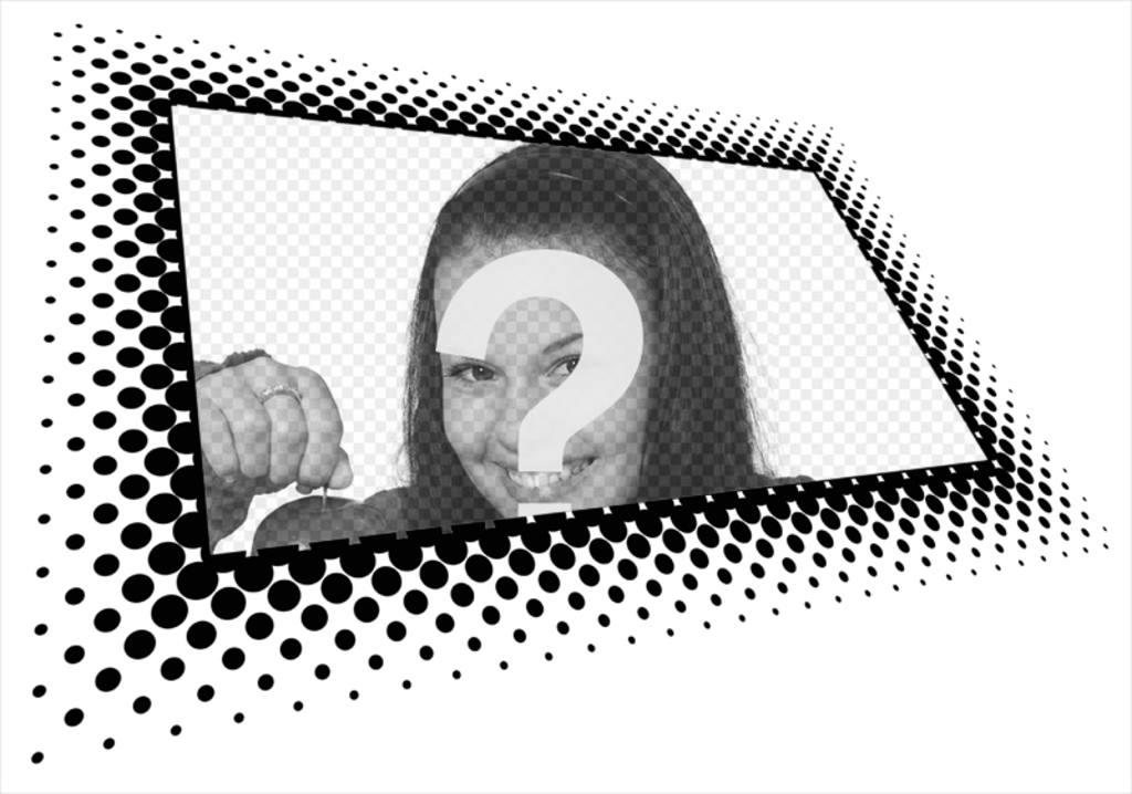 Cadre photo numérique pour la photo en perspective