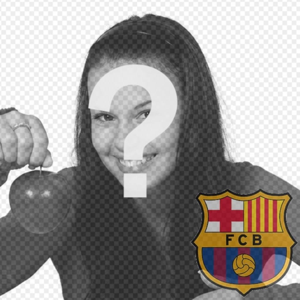 Photomontage de mettre le bouclier du FC Barcelone dans votre photo