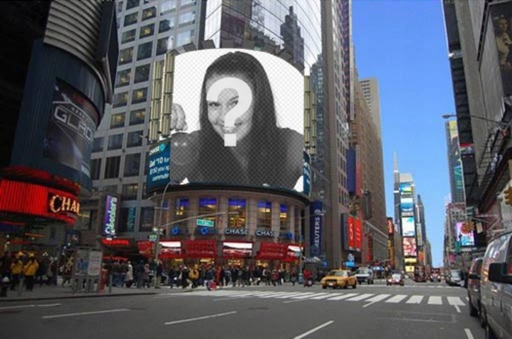 """Photomontage de mettre votre photo sur une affiche d""""une rue de New York"""