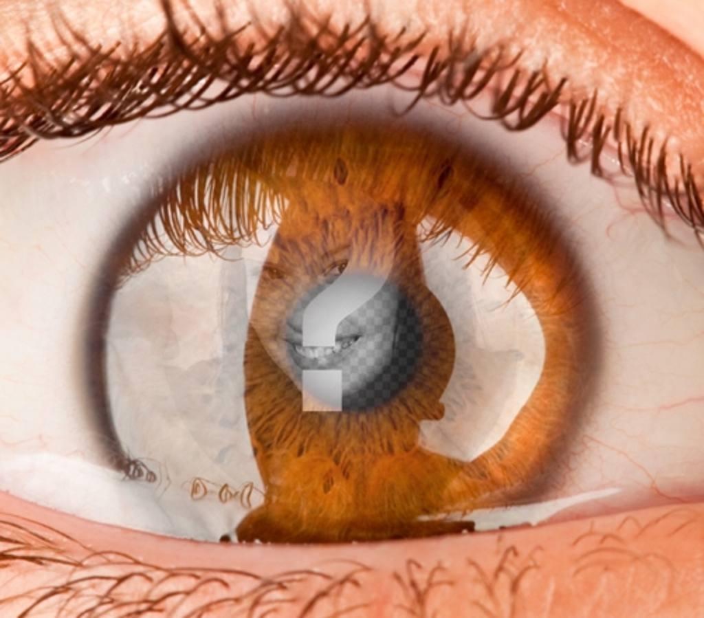 Photomontage de mettre une image comme si vous étiez dans un œil