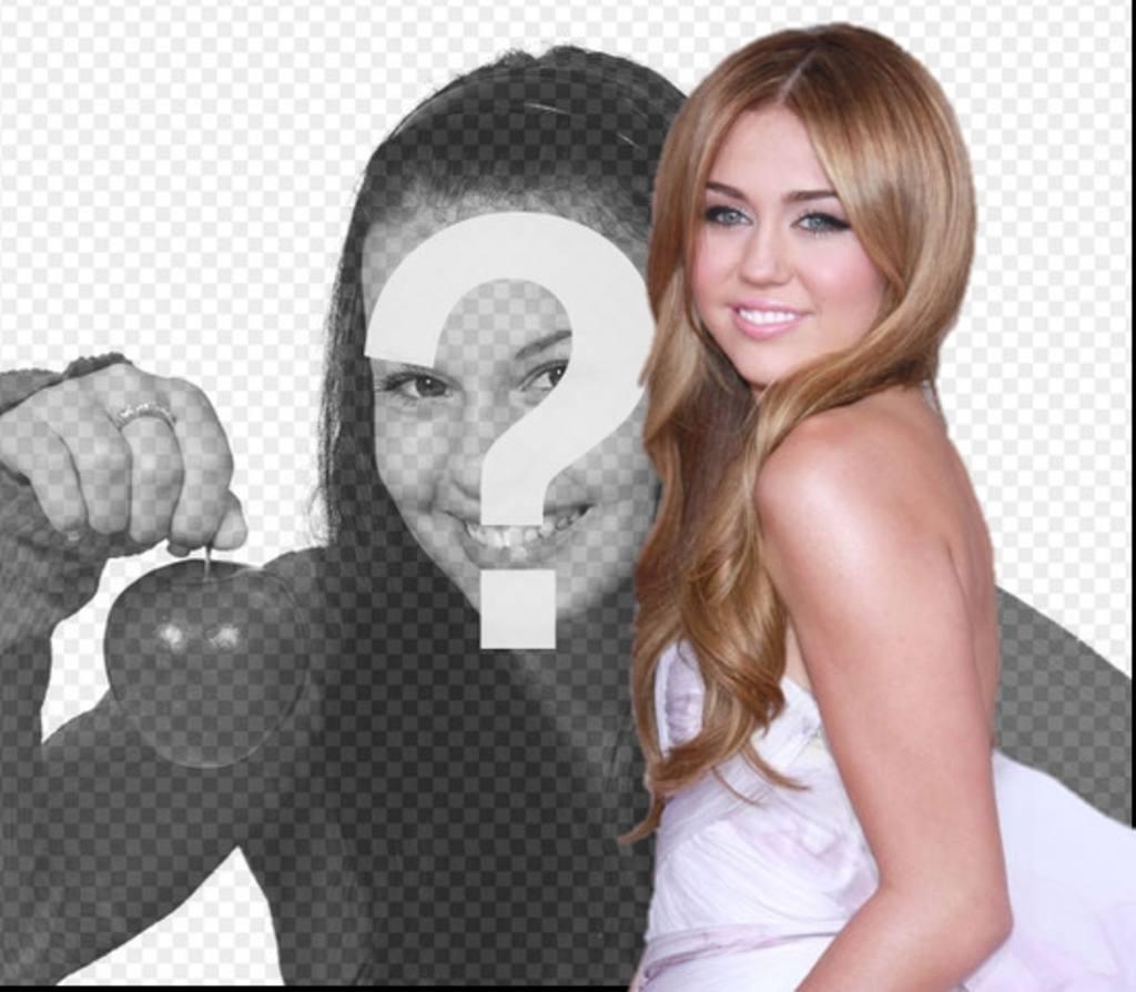 Photomontage avec Miley Cyrus. Effet photo pour faire un montage Togetherwith Miley