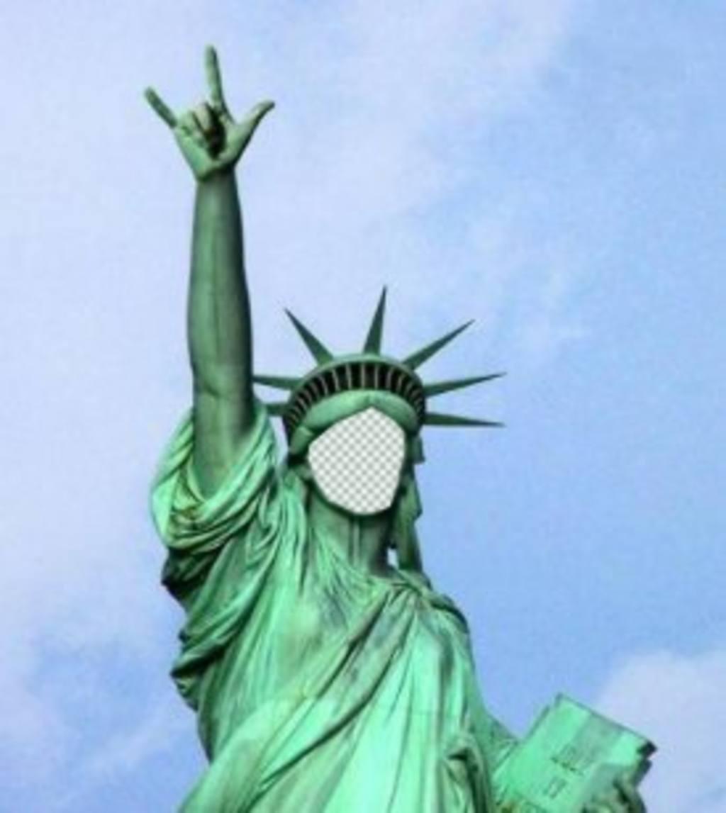 photomontage dans lequel vous allez mettre votre visage sur cette statue