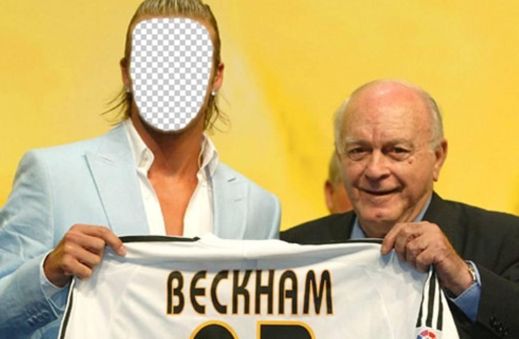 Photomontage de mettre votre visage sur David Beckham du Real Madrid