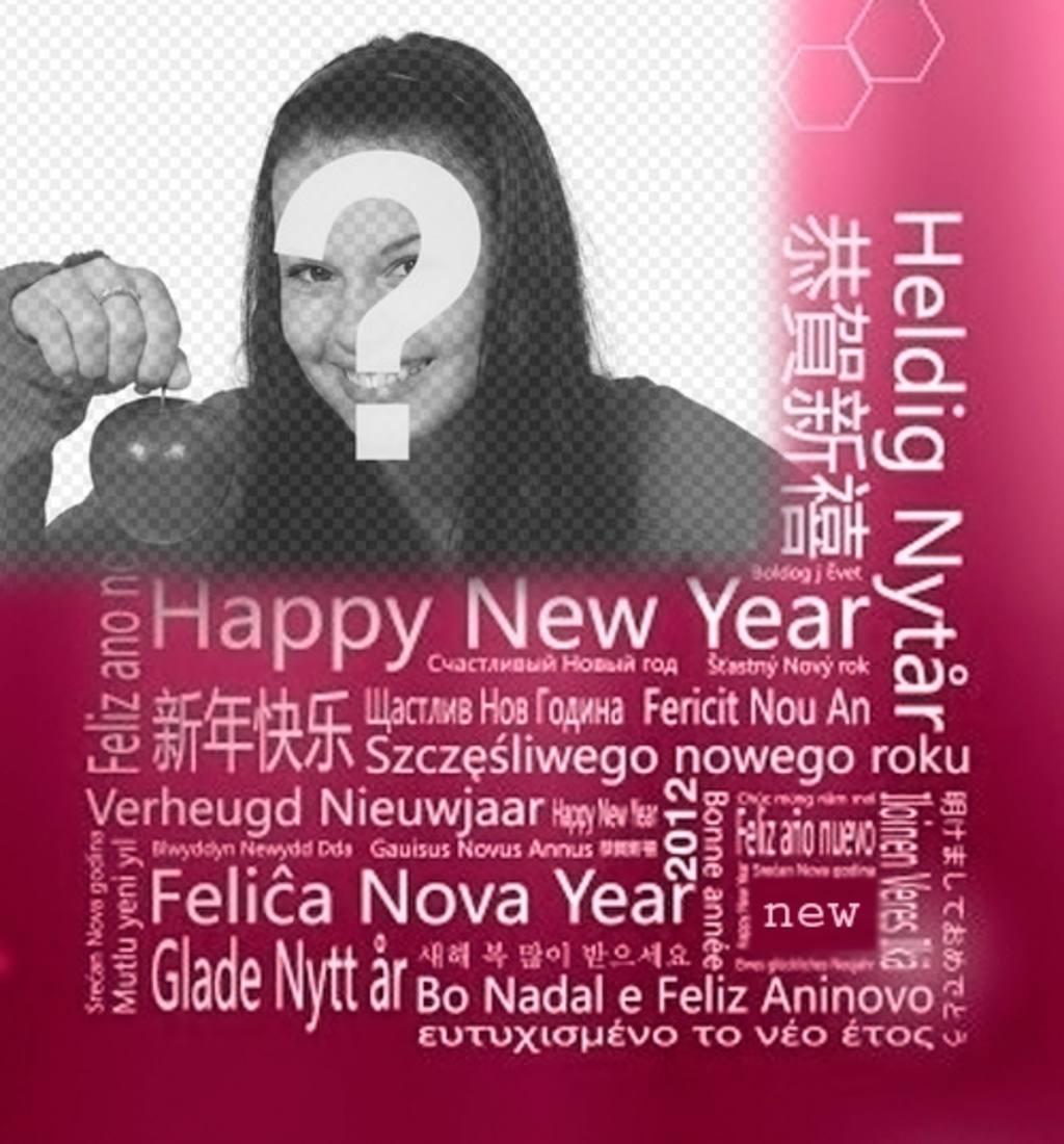 Voeux de Nouvel An dans différentes langues pour mettre votre photo