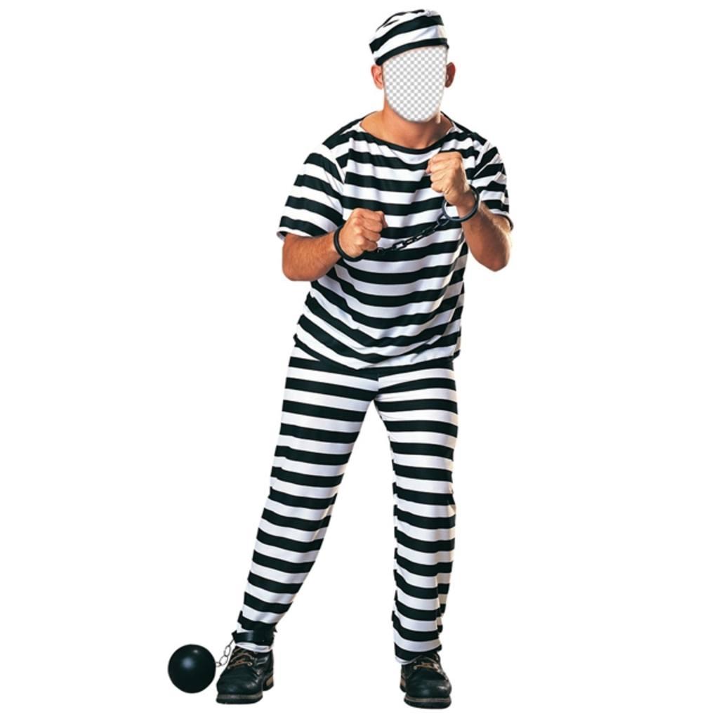 Costume dun prisonnier avec des chaînes pour modifier votre photo en ligne