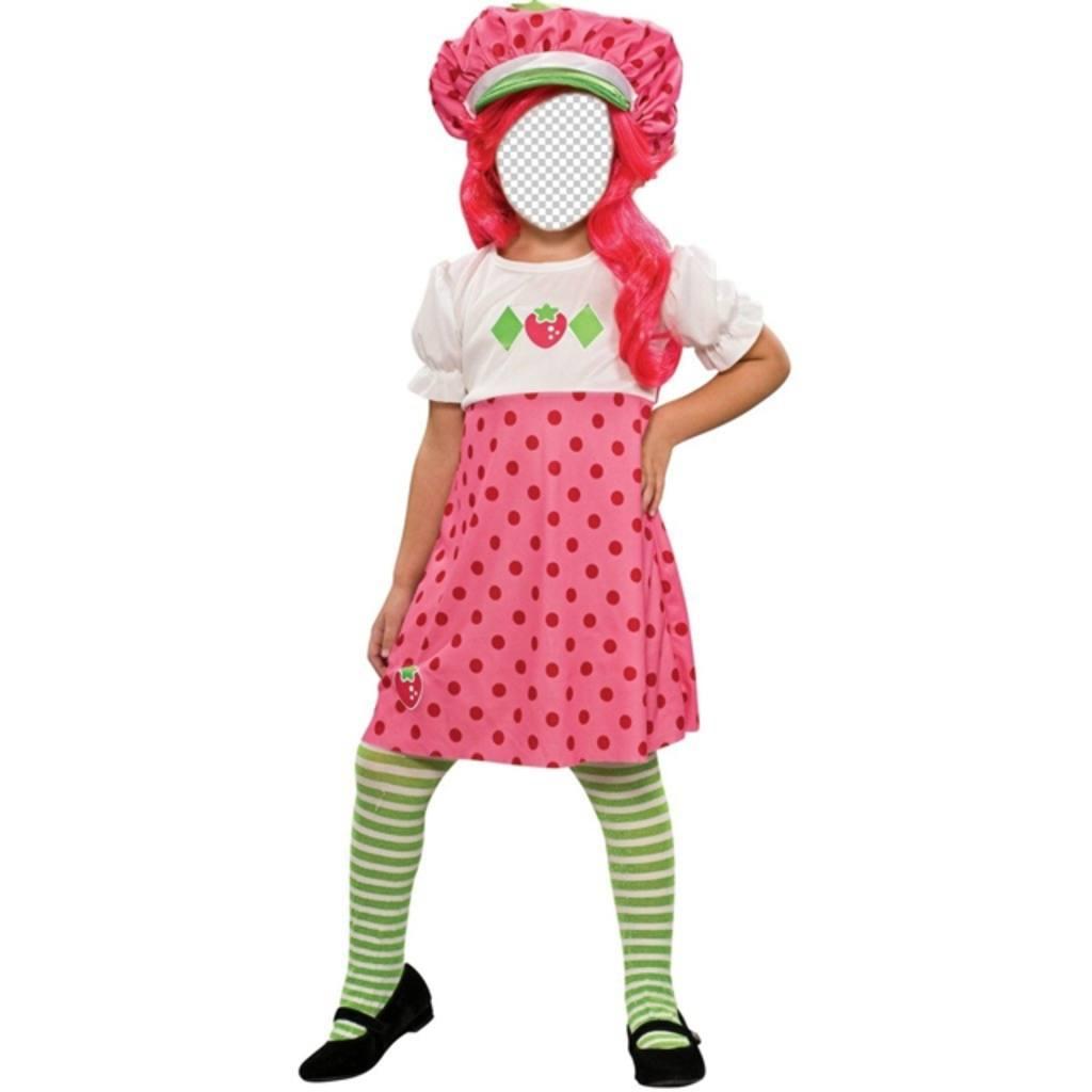 Maintenant, vous pouvez être la poupée * Strawberry Shortcake * avec sa robe et les cheveux rose