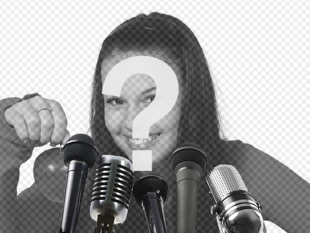 Créer un collage en utilisant cette image avec un microphone