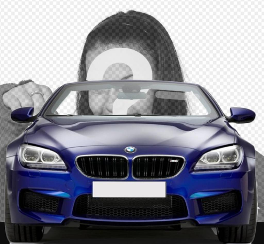 conduire une bmw d capotable bleu avec ce photomontage dans lequel vous photoeffets. Black Bedroom Furniture Sets. Home Design Ideas