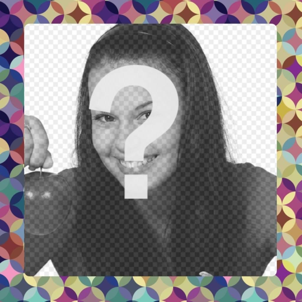 Apposer votre cadre photo couple de cercles de lilas et de couleurs jaunes