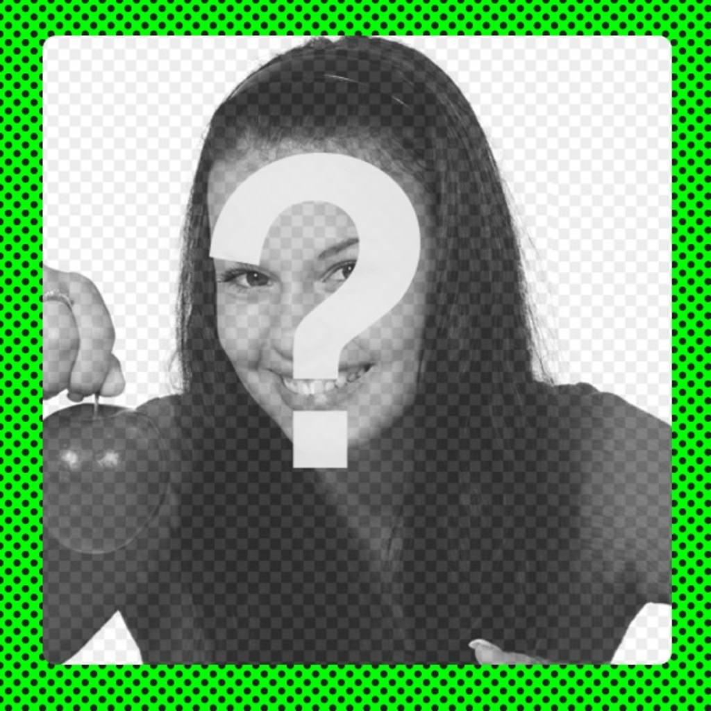 Fluorescent cadre vert pour décorer les photos avec le regard moderne néon avec des taches noires