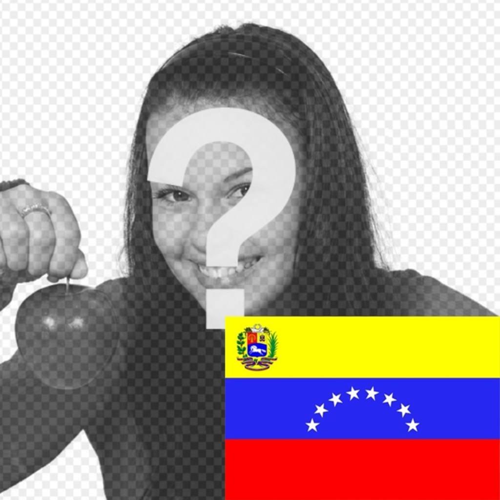 Photo montage de mettre le drapeau du Venezuela dans votre photo