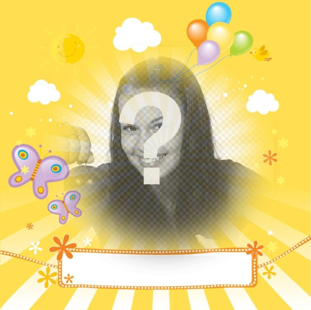 """Enfant Postal avec photo personnalisée et un texte pour féliciter vos amis et votre famille lors d""""occasions spéciales comme les anniversaires, la fête des mères ou la fête des pères"""