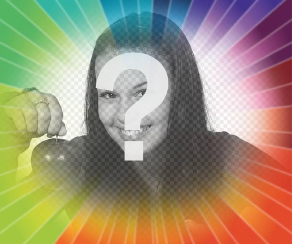 """Filtre photo avec l""""arc gradient rayons pour placer votre photo et ajoutez du texte en ligne gratuitement"""
