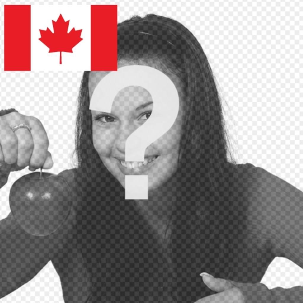 Le drapeau du Canada à votre photo de profil avec ce photomontage libre