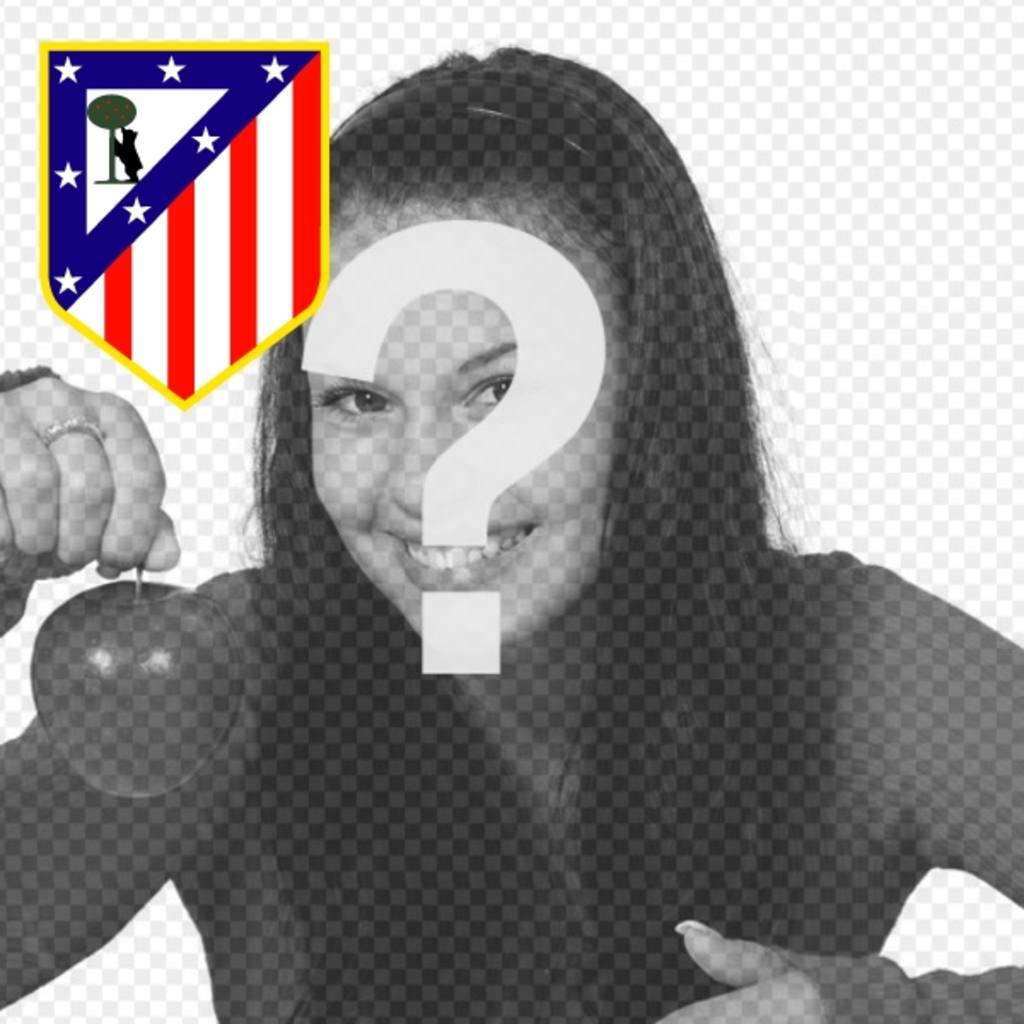 Atletico de Madrid Bouclier pour décorer votre réseau photos de profil médias sociaux avec votre équipe de football