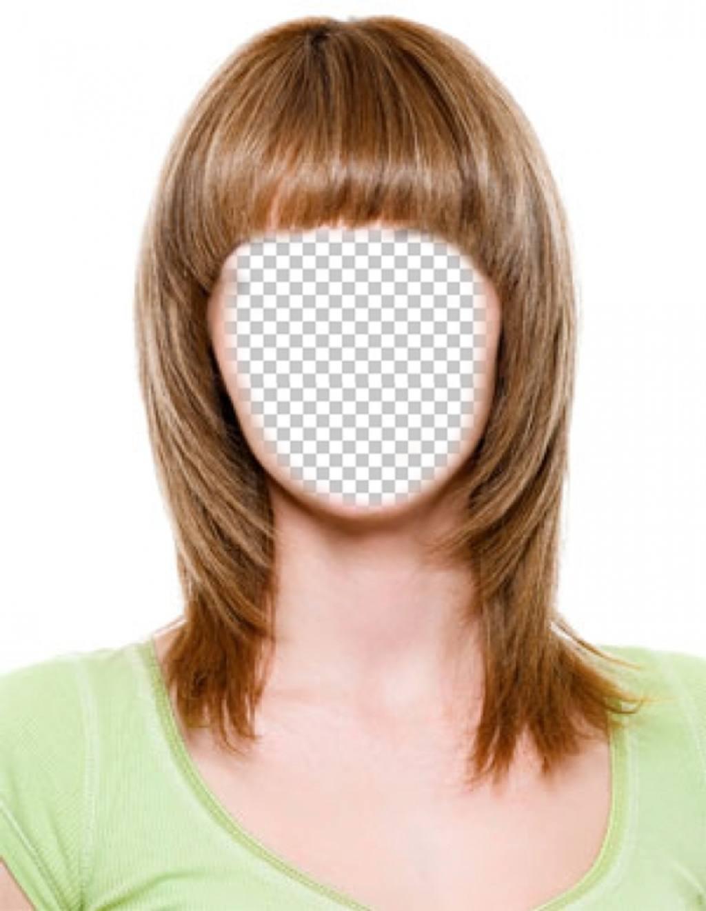 Changez vos cheveux brun clair et court avec ce photomontage pour modifier leffet