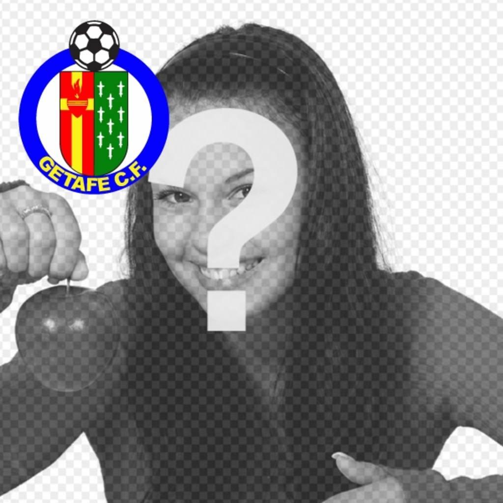 Avatar pour les réseaux sociaux avec le club de football de Getafe bouclier