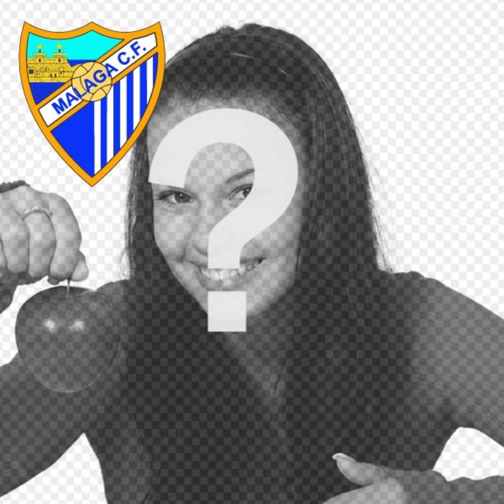 Ajouter à votre photo de profil le club de football de Malaga bouclier en ligne et gratuit