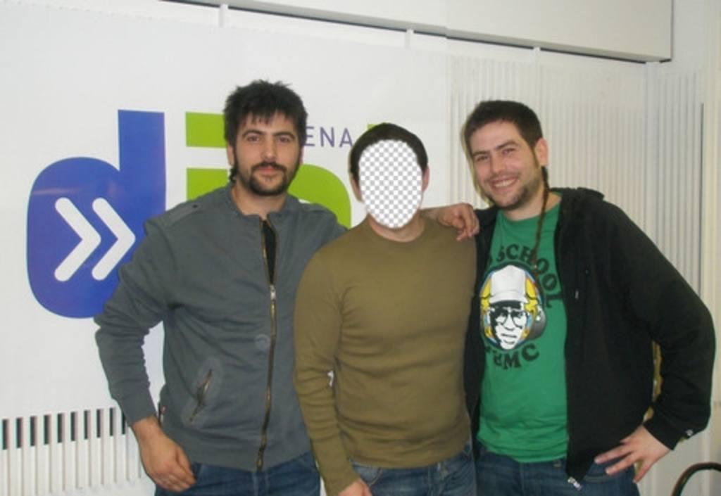 Photomontage avec David et José de Estopa à apparaître avec eux