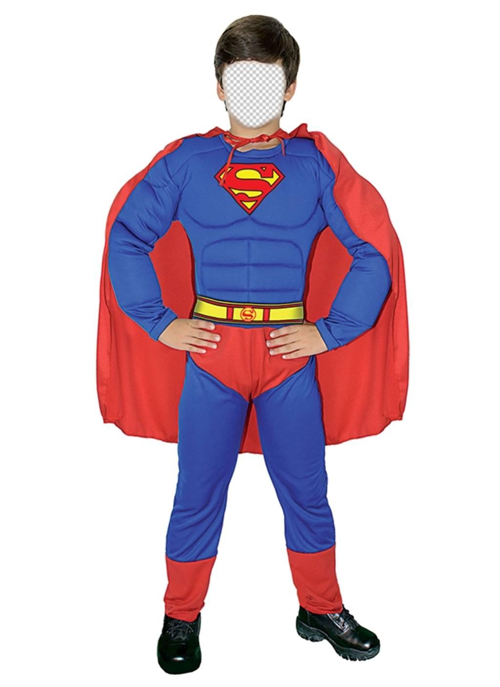 Photomontages gratuit pour déguiser votre fils comme Superman