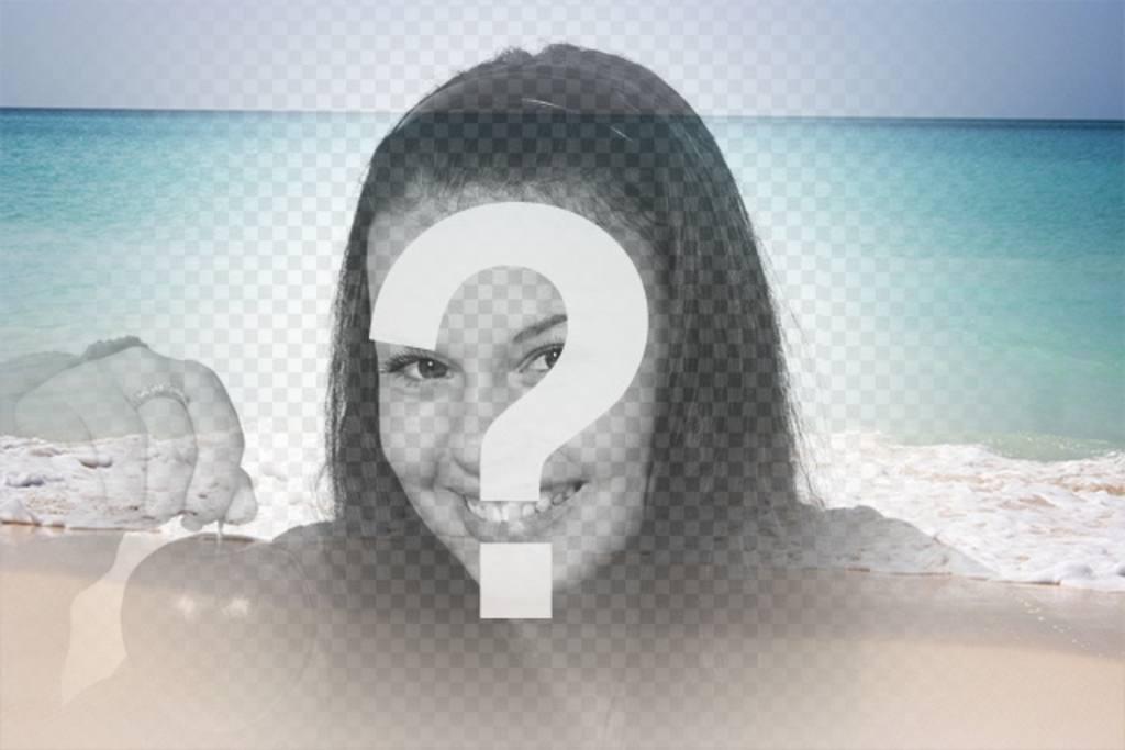 Collage avec une plage de paradis estival pour ajouter un filtre à vos images