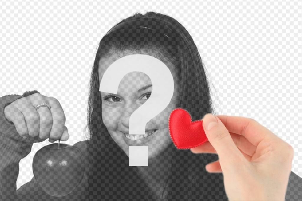 collage romantique avec une main offrant un coeur fait de tissu rouge pour photoeffets. Black Bedroom Furniture Sets. Home Design Ideas