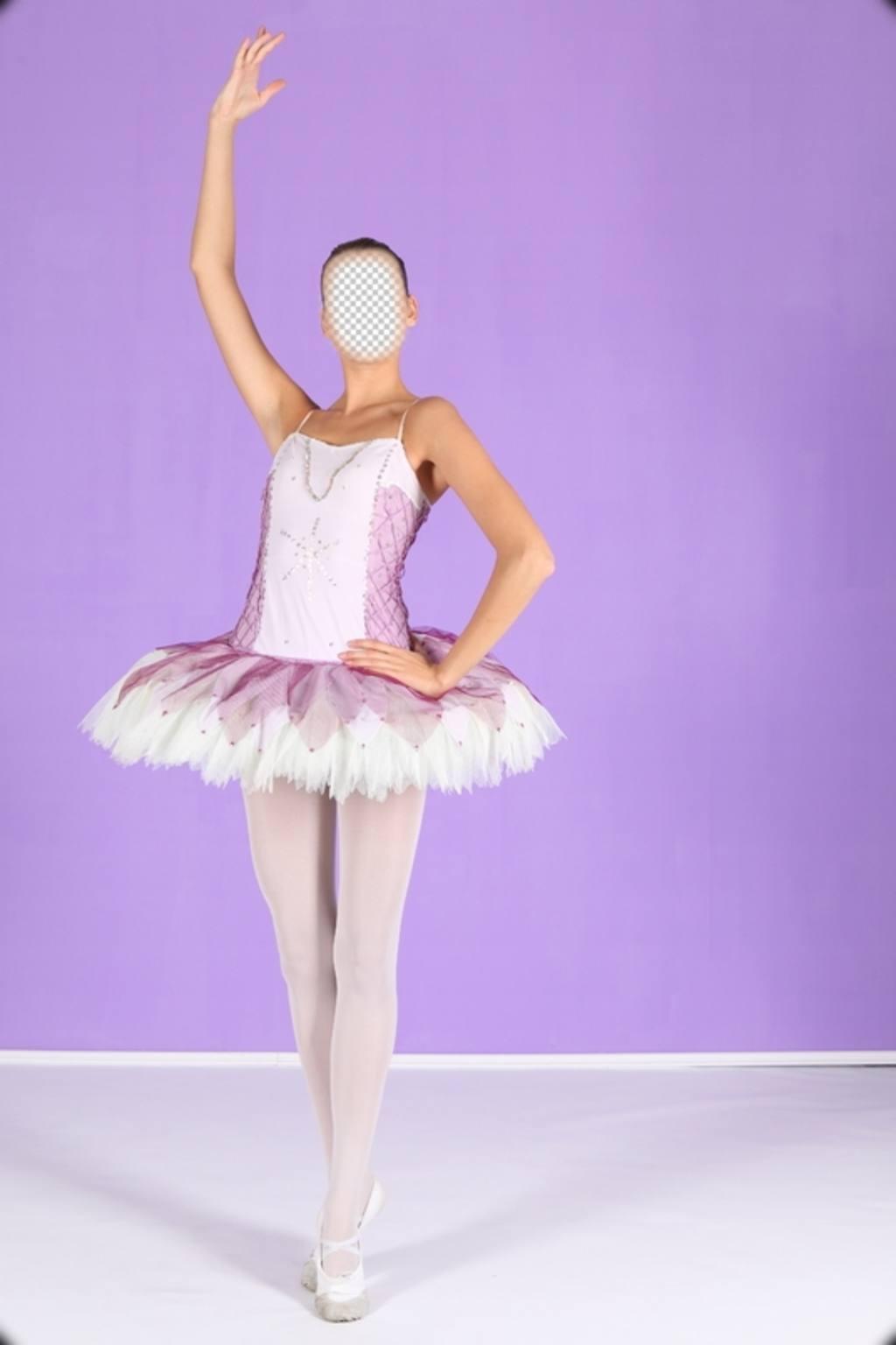 Photomontage pour devenir une danseuse de ballet en ligne et leffet