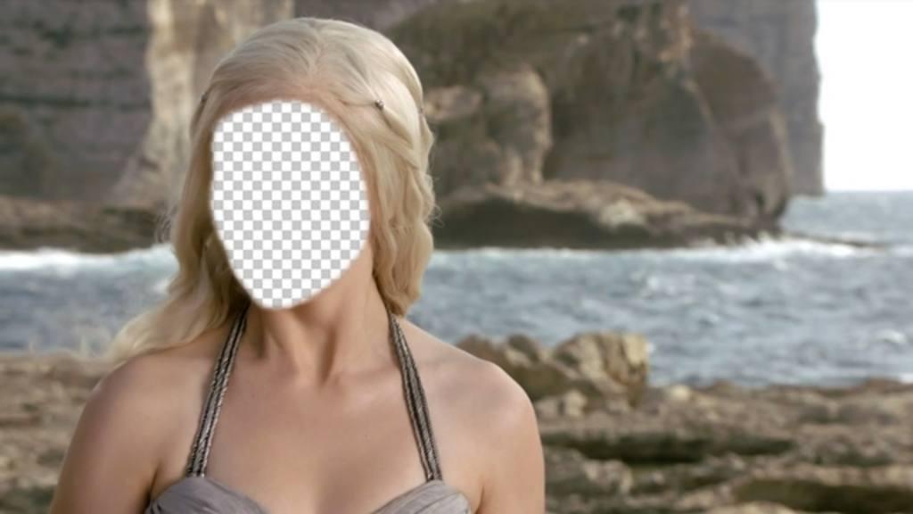 Photomontage de Khaleeshi de Game of Thrones où vous pouvez mettre votre visage