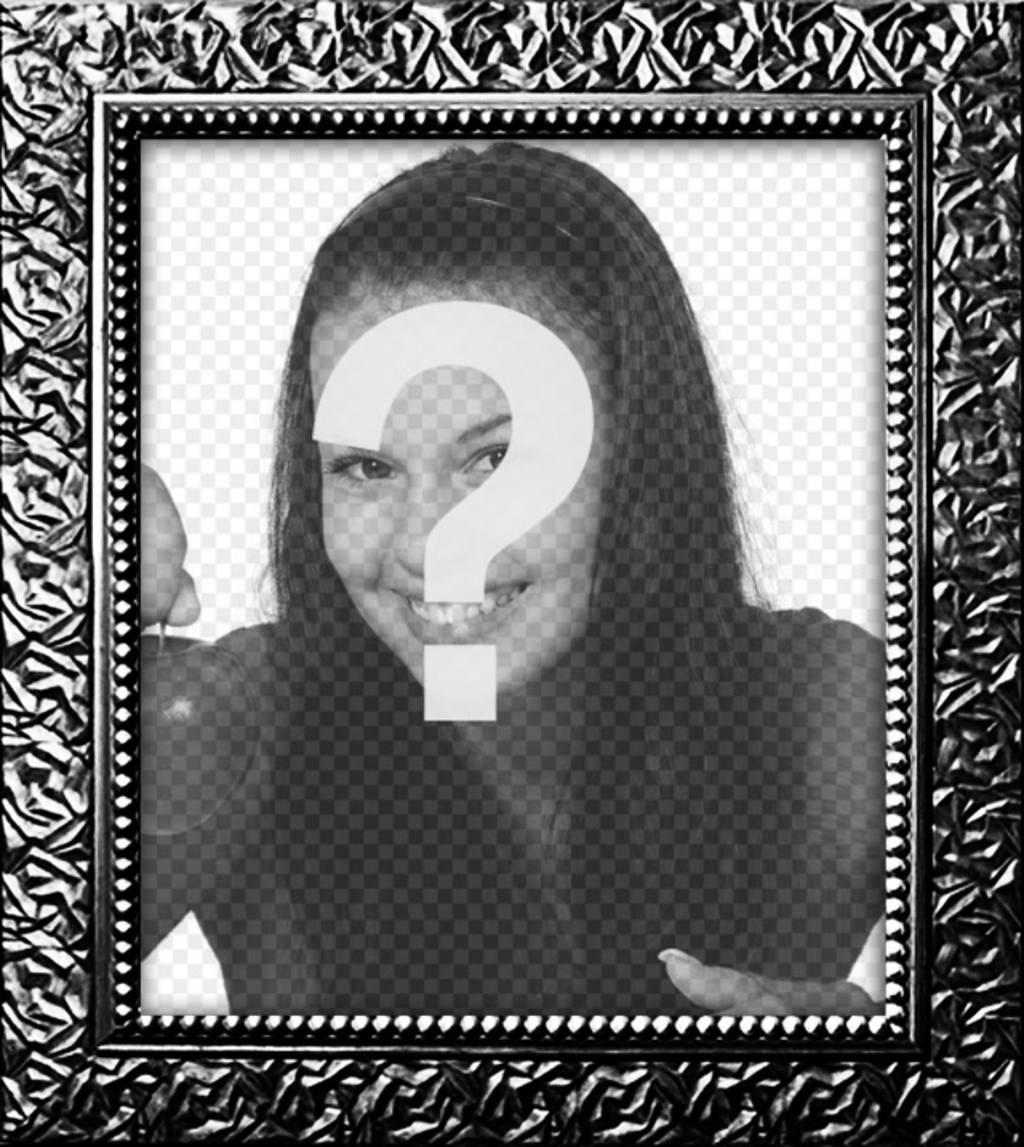 Cadre photo numérique avec une véritable plaqué noir texturé pour décorer vos photos en ligne