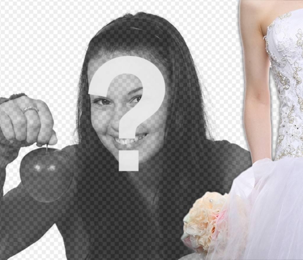 Décorez vos photos romantiques avec une silhouette de mariée